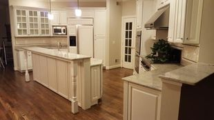 Cabinet refinishing by Bayze Painting LLC